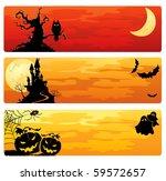 halloween banners | Shutterstock .eps vector #59572657