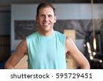 portrait of fit healthy man...   Shutterstock . vector #595729451
