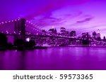 brooklyn bridge  new york in... | Shutterstock . vector #59573365