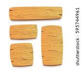 wood panel set. vector... | Shutterstock .eps vector #595744961