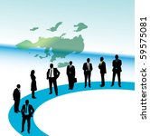 business people and map | Shutterstock .eps vector #59575081