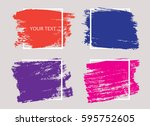grunge background template... | Shutterstock .eps vector #595752605