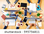 interacting as team for better... | Shutterstock . vector #595756811