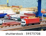 transportation of cargoes in... | Shutterstock . vector #59575708