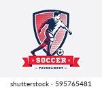 soccer football logo  emblem... | Shutterstock .eps vector #595765481
