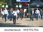 london  uk   8 september  2016  ... | Shutterstock . vector #595791701