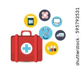 hospital medicine tools icon | Shutterstock . vector #595793531