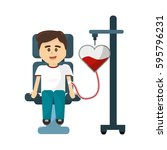 man donating blood icon   Shutterstock .eps vector #595796231