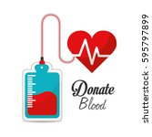 blood donation campaign icon | Shutterstock .eps vector #595797899