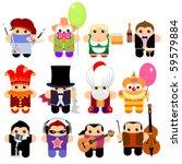 Set Of Funny Cartoon Characters....
