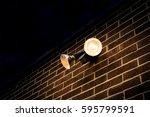 Flood Light On External Brick...