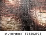 crocodile skin leather... | Shutterstock . vector #595803935