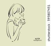 art sketching vector of... | Shutterstock .eps vector #595807451