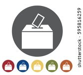 ballot box icon set.vector... | Shutterstock .eps vector #595816259