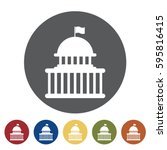 government icon set.vector... | Shutterstock .eps vector #595816415