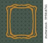 art nouveau elegant smooth... | Shutterstock .eps vector #595818761