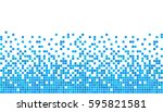 blue and white pixel background.... | Shutterstock .eps vector #595821581