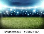 football pitch background  | Shutterstock . vector #595824464