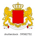blank coat of arms  seal or... | Shutterstock . vector #59582752