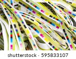 printing color reference bars... | Shutterstock . vector #595833107