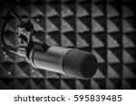 professional microphone in... | Shutterstock . vector #595839485