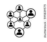 people network icon | Shutterstock .eps vector #595839575