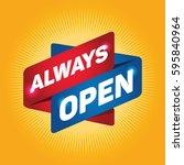 always open arrow tag sign. | Shutterstock .eps vector #595840964