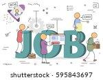 vector hand drawing men and...   Shutterstock .eps vector #595843697