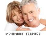 happy seniors couple in love.... | Shutterstock . vector #59584579