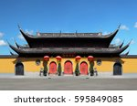 shanghai the jade buddha temple | Shutterstock . vector #595849085