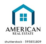 real estate  building ... | Shutterstock .eps vector #595851809