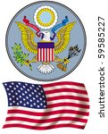 coat of arms and flag of the... | Shutterstock . vector #59585227