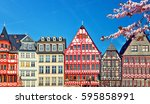 old traditional buildings in... | Shutterstock . vector #595858991