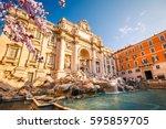 Fountain Di Trevi In Rome At...