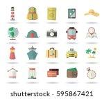 vector ilustration. tourism ... | Shutterstock .eps vector #595867421