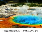 Grand Prismatic Pool at Yellowstone National Park Colors