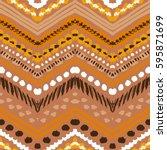 tribal ethnic seamless pattern. ... | Shutterstock .eps vector #595871699