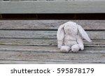 Abandoned Toy Bunny Rabbit Sat...