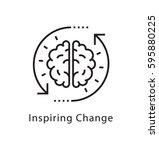 inspiring change vector line... | Shutterstock .eps vector #595880225