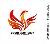 phoenix vector logo icon | Shutterstock .eps vector #595882037
