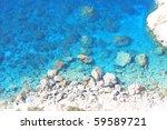 Beautiful Deep Blue Sea And...