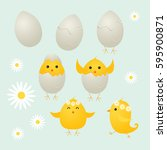Cute Easter Chicks And Eggs ...