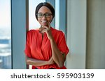 portrait of a smiling young...   Shutterstock . vector #595903139