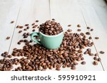coffee. coffee beans. coffee... | Shutterstock . vector #595910921
