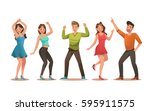 happy teens character design.... | Shutterstock .eps vector #595911575