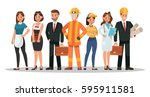 career characters design.... | Shutterstock .eps vector #595911581