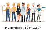 career characters design.... | Shutterstock .eps vector #595911677