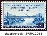 usa   circa 1948  a stamp... | Shutterstock . vector #595912061
