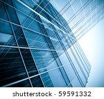 blue glass wall of skyscraper | Shutterstock . vector #59591332
