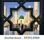medina  kingdom of saudi arabia ... | Shutterstock . vector #595913984